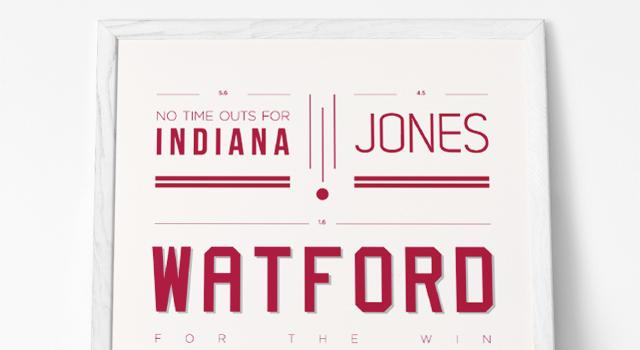 """Typographic Poster – """"Wat Shot"""""""