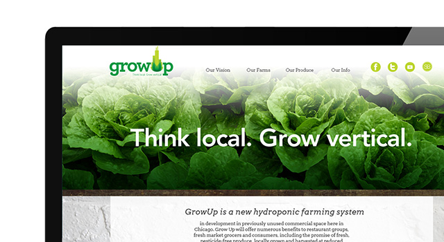 GrowUp Chicago Website Concept + Photography
